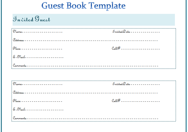Guest Book Template – Best for Any Event