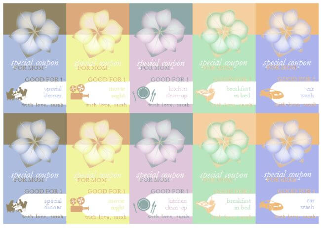 Mother's Day Gift Coupon Template :