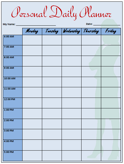 Daily Planner Template That Helps to Keep You on Track – Day Planner Template Word