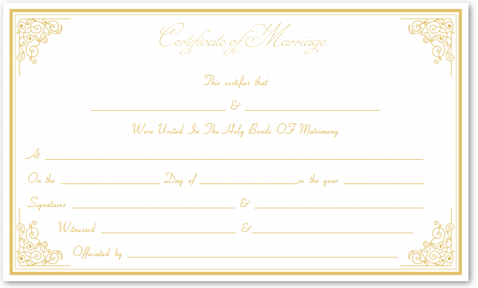 Marriage certificate template write your own certificate printable marriage certificate yadclub Image collections