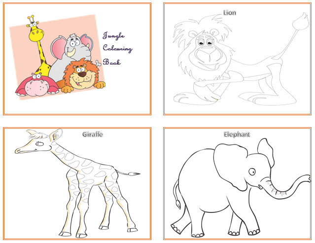 Coloring Book Template – Entertainment for Kids