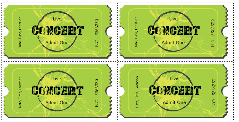 Concert Ticket Template  Concert Ticket Template Free