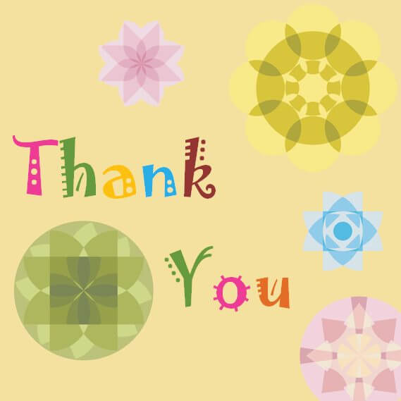 thank you card template for kids