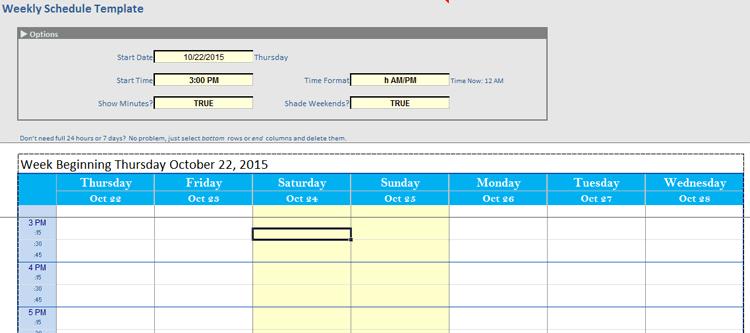 Auto Work Schedule Maker in Excel®