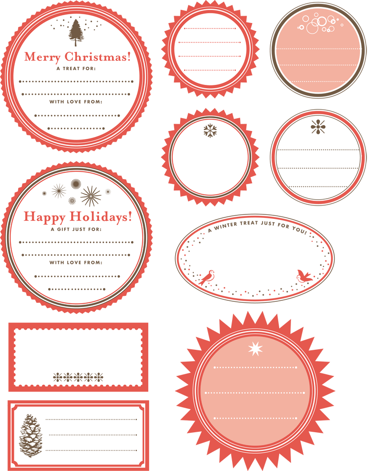 Printable gift tag templates print free gift wrapping tags gift tag template for word negle Gallery
