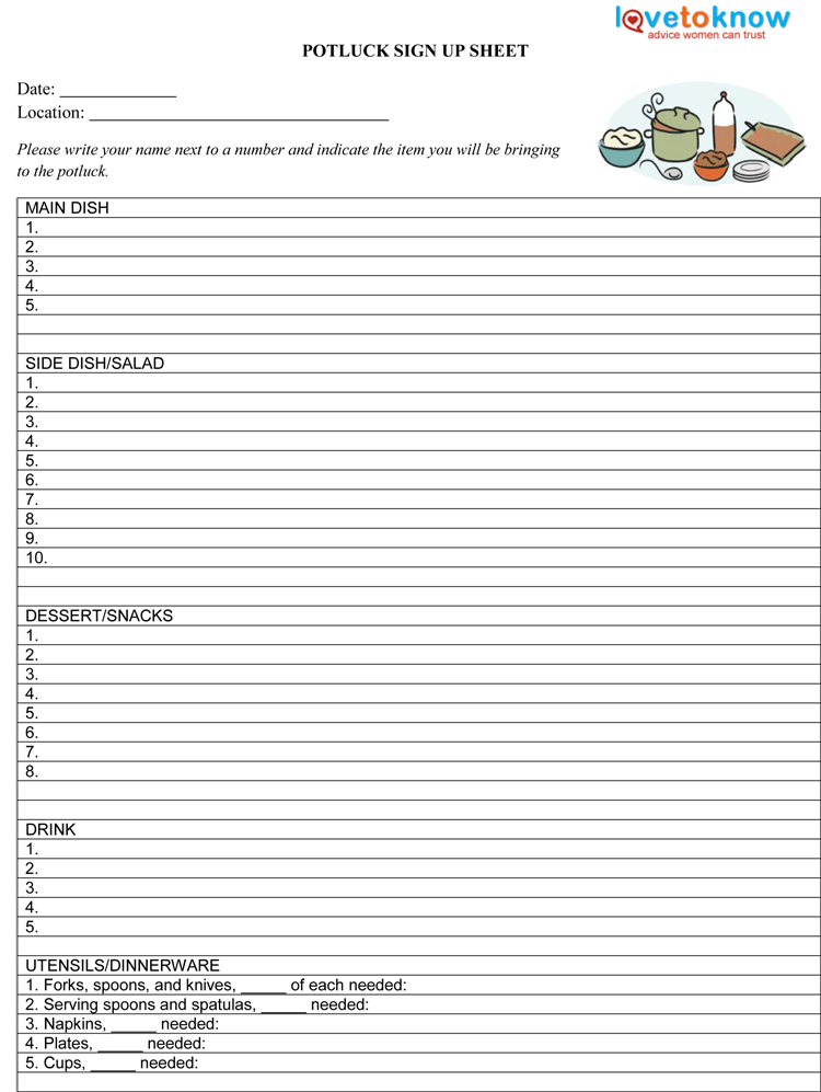 26 Free Sign Up Sheet Templates Excel Word