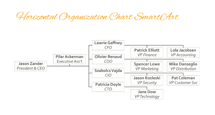 5 Blank Organizational Chart Samples to Keep You Professional – Blank Organizational Chart
