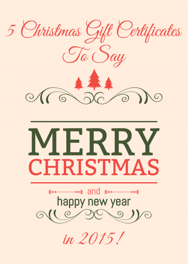 Christmas Gift Certificate Templates 2015