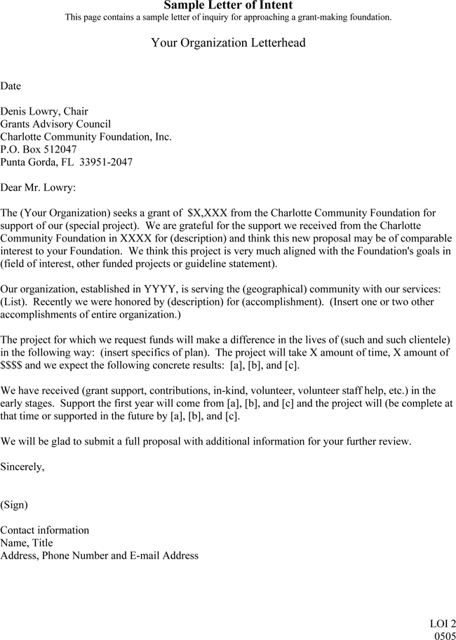 letter of intention format letter of intent sample 5 templates amp formats in word pdf 22988 | Letter of Intent format