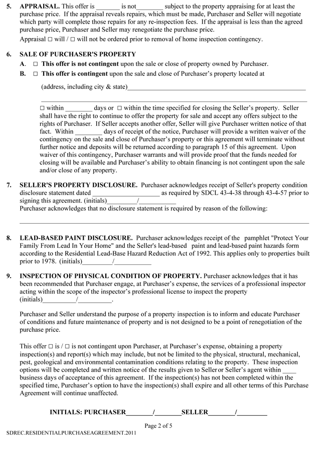 5  real estate purchase agreement samples  u0026 formats