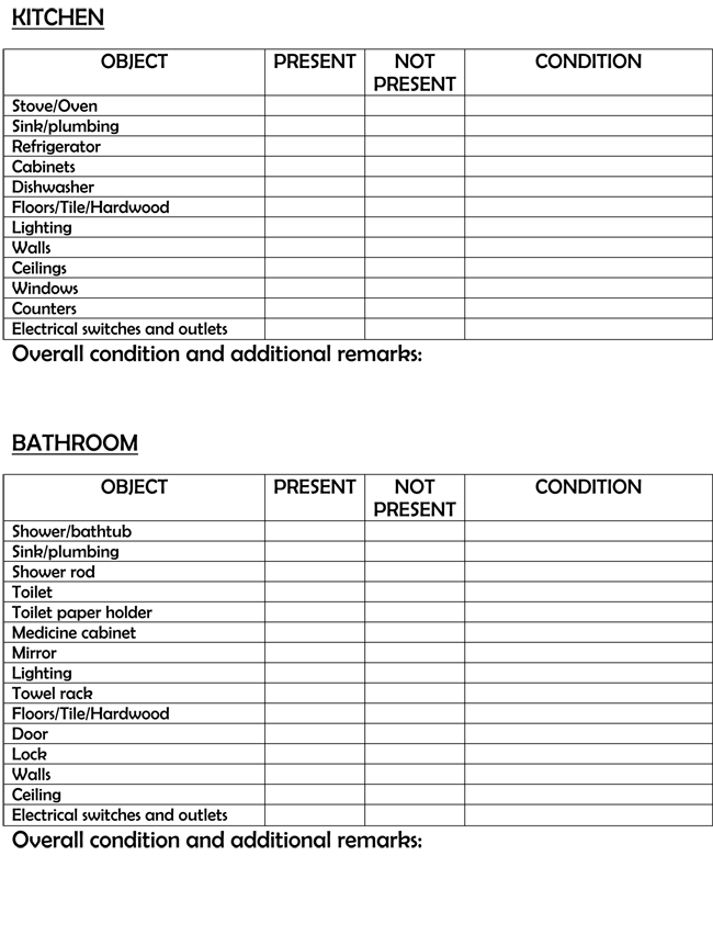 5 printable first apartment checklists in word excel pdf for Furniture for first apartment