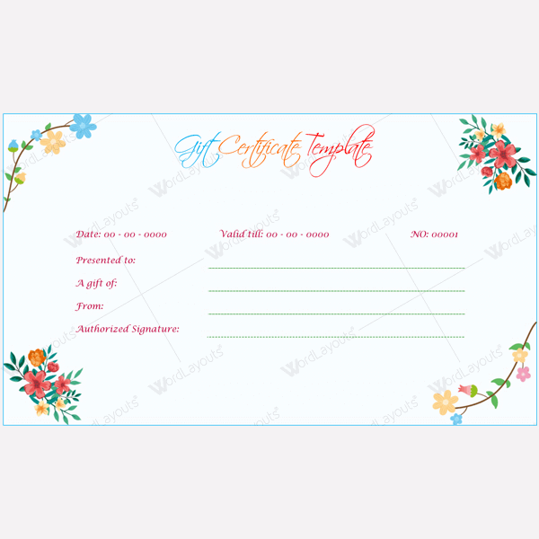 10 Plus Gift Certificate Templates For Any Purpose