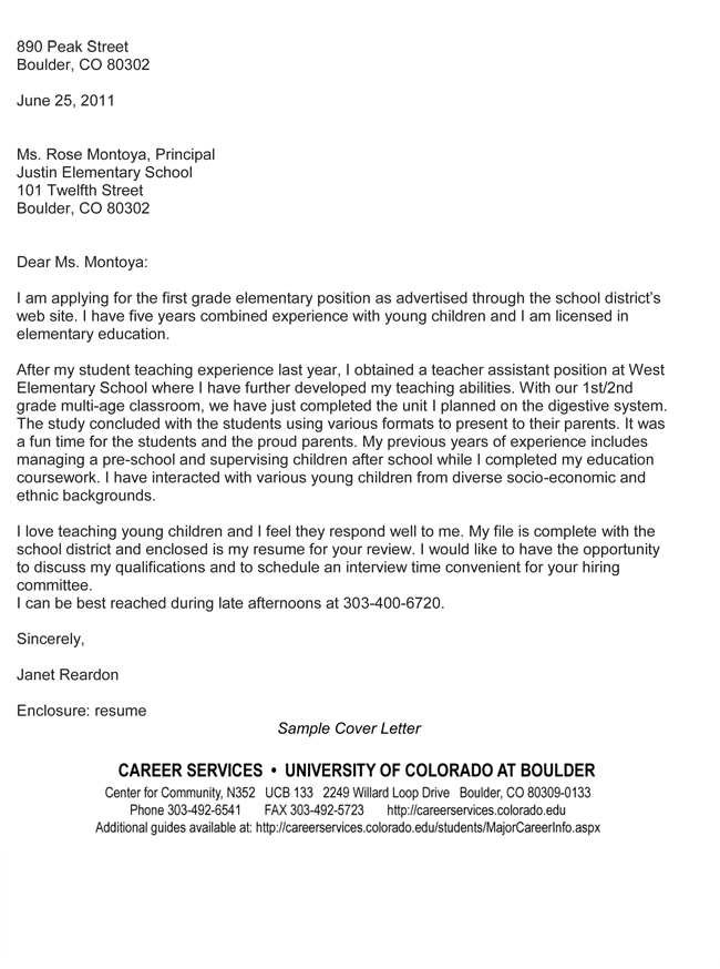 Teacher Cover Letter Examples Get The Perfect Teaching Job