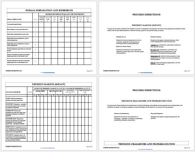 job assessment template