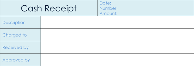 6 Samples of Cash Receipt Template for Excel and Word – Sample Reciept