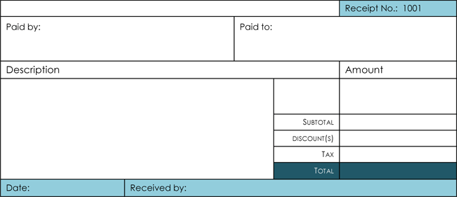6 Samples of Cash Receipt Template for Excel and Word – Receipt Word