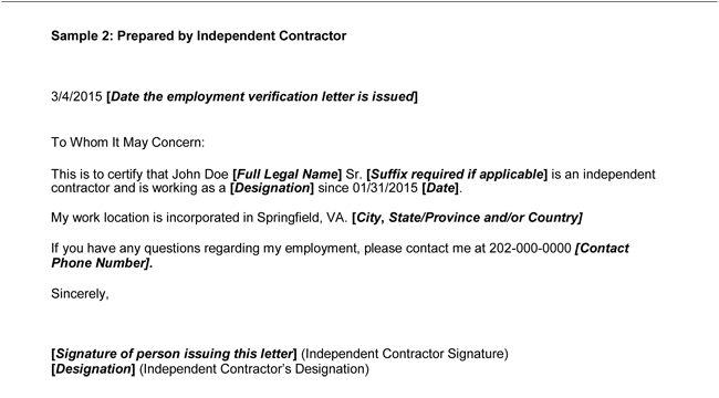 Sample Past Employment Verification Letter  Employment Letter Sample