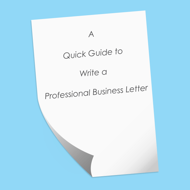 Writing a professional business letter