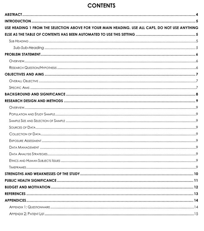 Undergraduate Research Proposal Sample