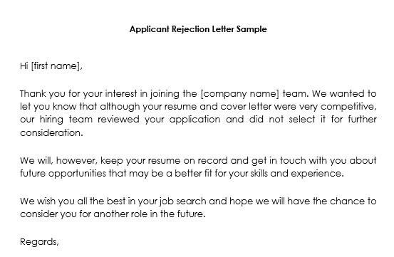 Job candidate rejection letter samples 12 best formats and templates candidate rejection letter sample after interview spiritdancerdesigns Image collections