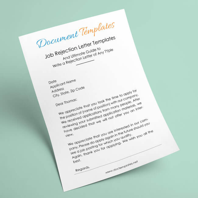 Job Candidate Rejection Letter Samples and Guide to Write a Rejection Letter