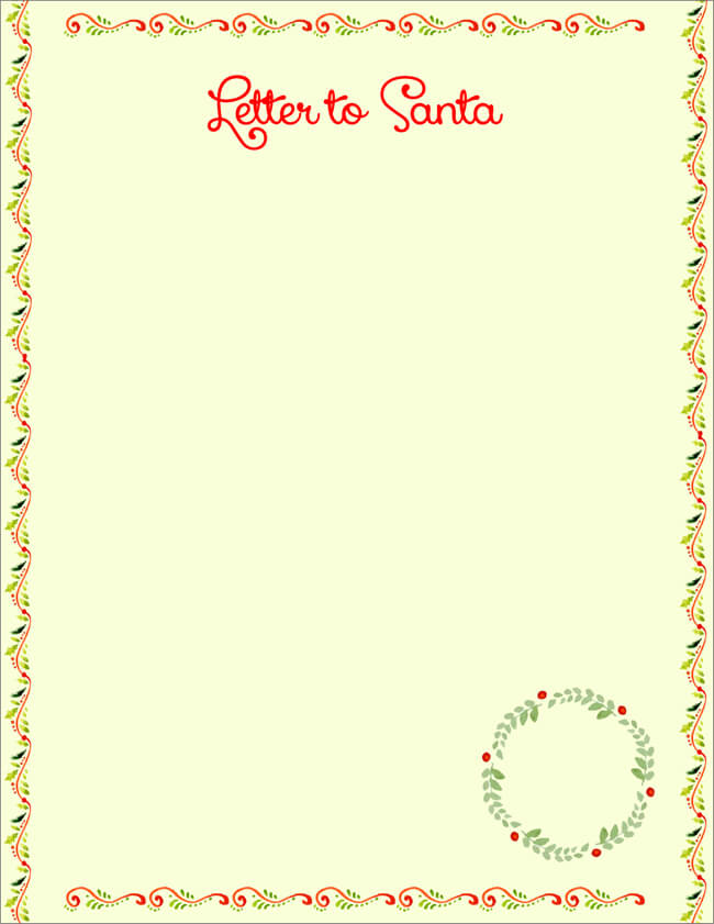 Free Letter To Santa Templates For Kids To Write Wishes