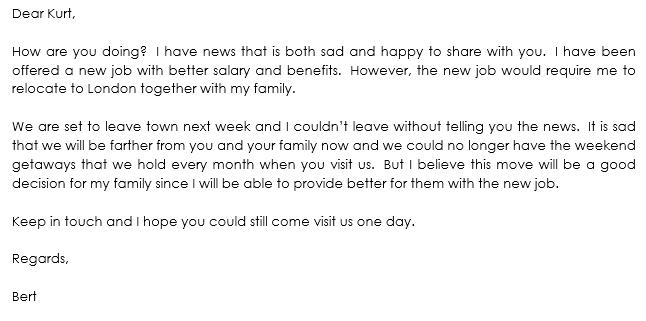 farewell letter samples