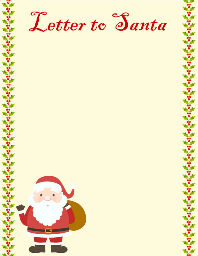 Letter From Santa Template Word