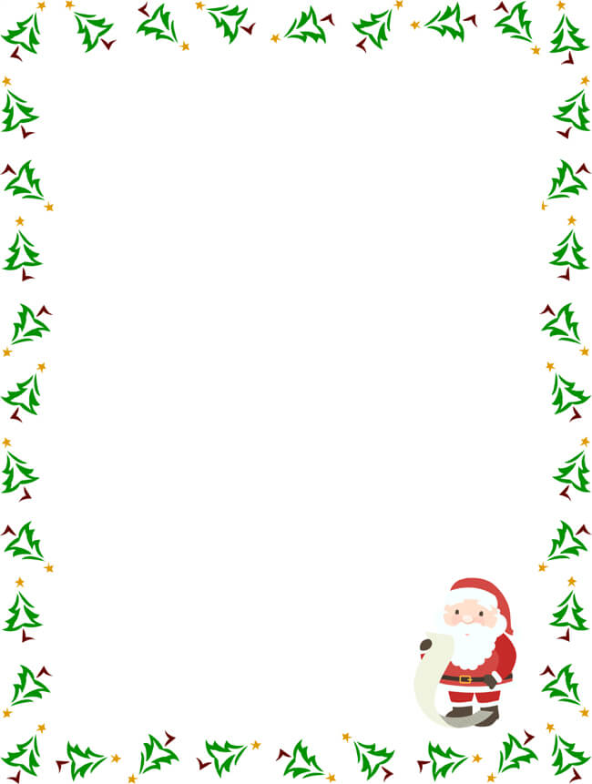Letter to Santa Templates for Children