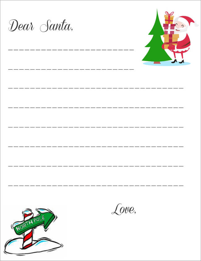 free printable santa letters 20 free letter to santa templates for to write wishes 33583