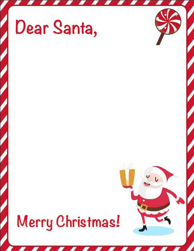 blank letter from santa 20 free letter to santa templates for to write wishes 10176