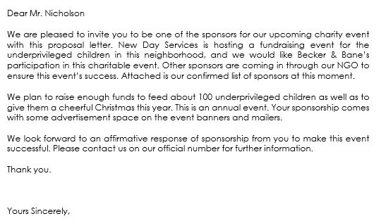 sponsorship letter for event