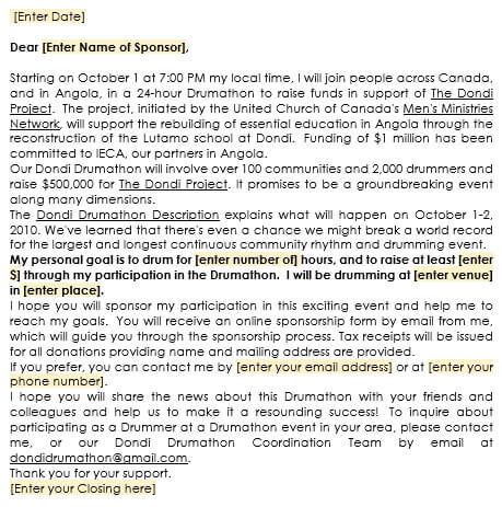 Sponsorship Letter Samples