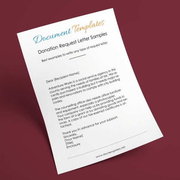 Donation Request Letter   Samples Templates  Formats