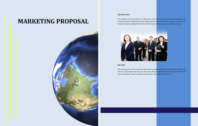 free marketing proposal templates