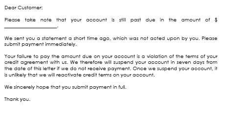 sample over due payment letter
