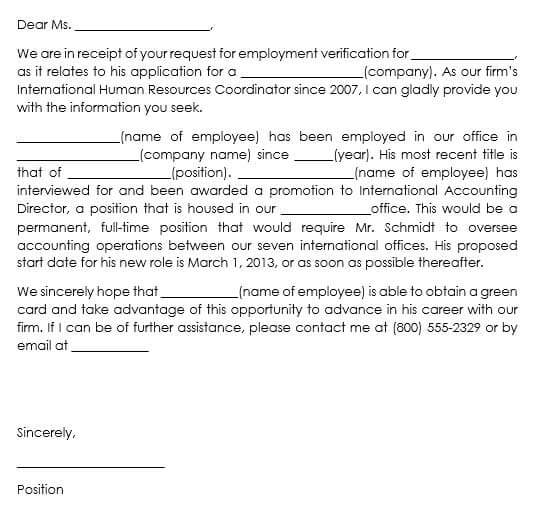 proof of employment letter template microsoft