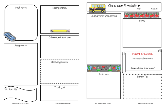 10 Classroom Newsletter Templates Free And Printable Designs