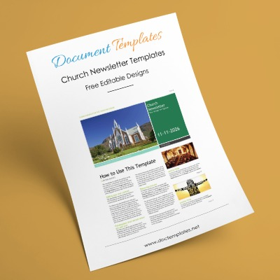 Free Church Newsletter Templates – Editable in Microsoft® Word