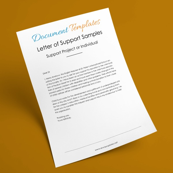 10 Letter of Support Samples to Support Projects or Individuals