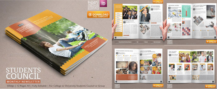 Newsletter Template for School and College