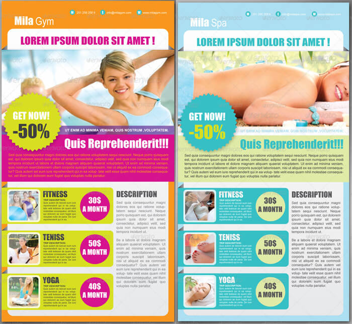 PSD Email Newsletter for Fitness Gym