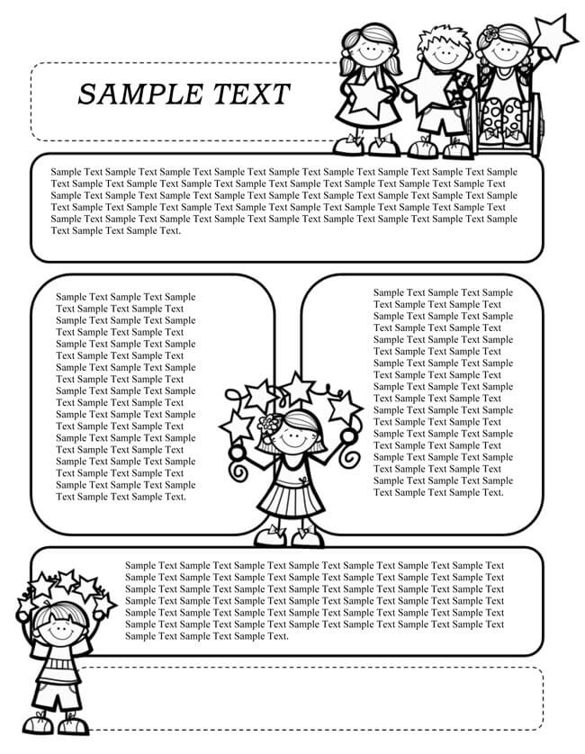 Preschool Newsletter Template for Kids