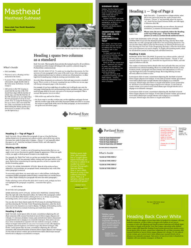 image about Free Printable Newsletter Templates for Microsoft Word named Cost-free Electronic mail Publication Templates in the direction of Acquire E-Newsletters for