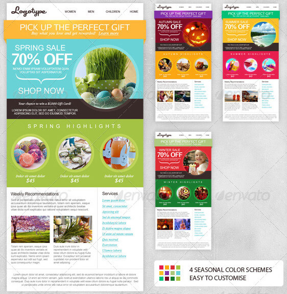 multi purpose email newsletter template