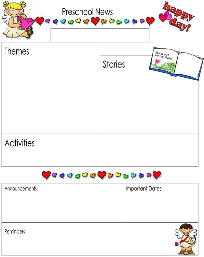preschool newsletter samples