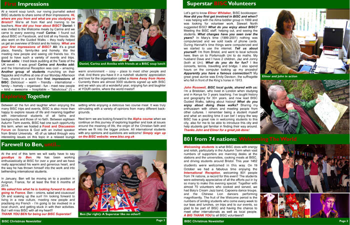 Christmas family newsletter template PDF