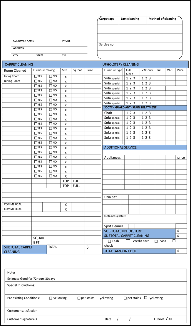 Free Printable Cleaning Service Invoice Templates Different Formats - Free printable cleaning invoice