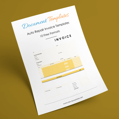 auto repair invoice templates - 10+ printable and fillable formats, Invoice templates