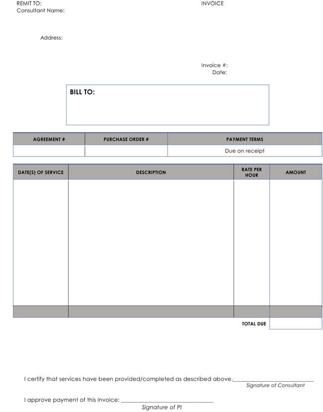 Hourly Consulting Invoice Templates